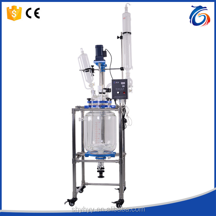 80L Hot Sales Research Chemicals Double Glass Reaction Vessel