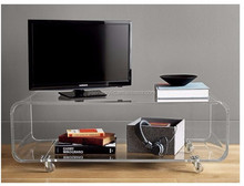 wholesale clear customized acrylic TV stand