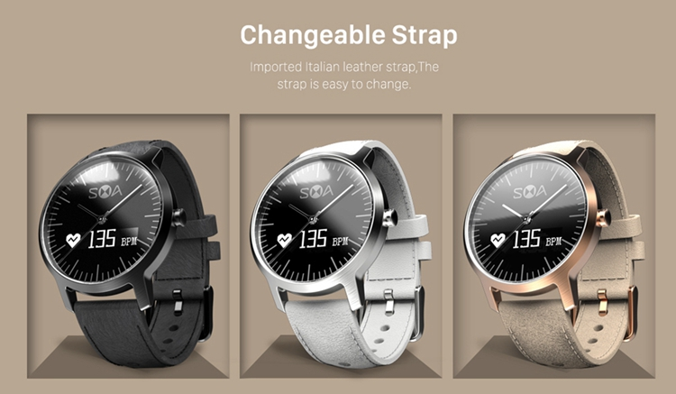 SMA-A1 analog smart watch Activity and Sleep Tracking Time calibration by APP