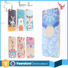 Wholesale hot candy color plastic mobile phone cover case for iphone 6 6s soft silicon 3D print relief designer phone cases