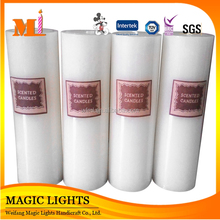 Long Burning Time and Pillar Cheap Scented White Candles
