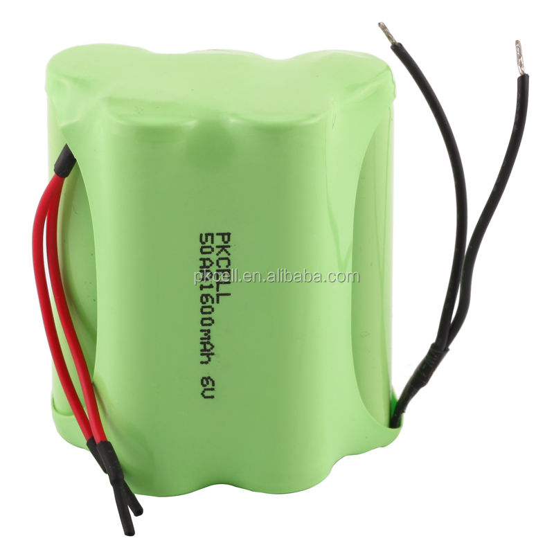 Wholesale Shenzhen low price 6V ni-mh AA Size 1600mah rechargeable battery pack with wire from factory