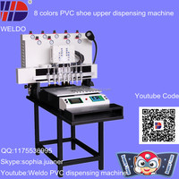 weldo 8 colors easy use PVC slipper upper injection machine