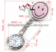 smiling nurse watches clip watch