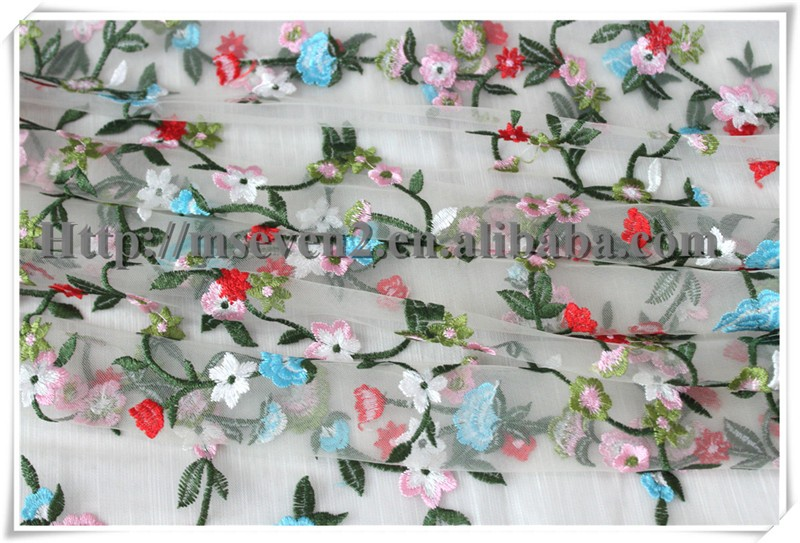 Lovely small Floral african beautiful bridal organza lace fabric wholesale