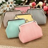 fashion stripe change purse small coin purse cute zero wallet