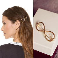 Latest fashion women hair ornaments golden and silver alloy hair clip pin for long hair