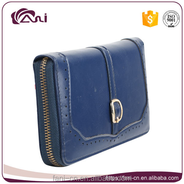 fani wholesale high quality leather handmade wallet purse