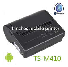 4 inch cheap portable bluetooth thermal small ticket printer TS-M410 for android
