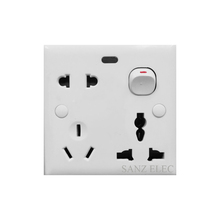 Bangladesh 1 Gang 1 Way Switch With 2&3 Pin Universal Wall Socket With Indicator