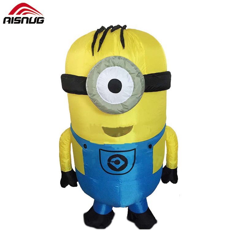 purim christmas inflatable one eye minion costume fit adult environmental fan operated minion halloween costume buy adult minion costumeminion halloween - Minion Christmas Inflatable