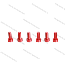 factory price red color hex socket head screws aluminum fixing screws
