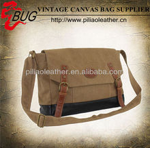 washed and coated canvas matching messenger bag
