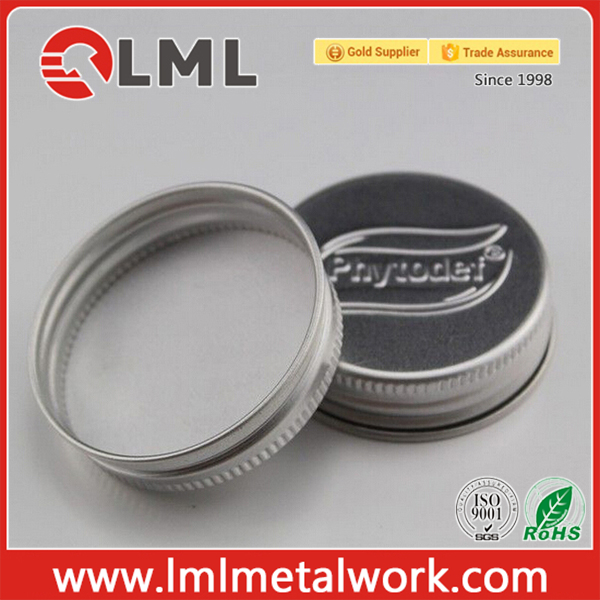 Logo Embossed Aluminium Screw Jar Lid