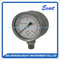 All SS safety bourdon tube pressure gauges manufacturer