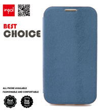 Luxury blue PU leather back cover for samsung galaxy s4 in Book style