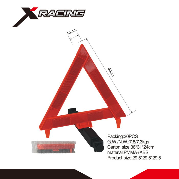 Xracing NMWTD10 PMMA+ABS Safety Roadway Red Warning Triangle/Triangle Car Warning Light With E-MARK