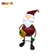 Holiday Present Garden Metal Santa Claus Statue Crafts Christmas Decorations With Gift