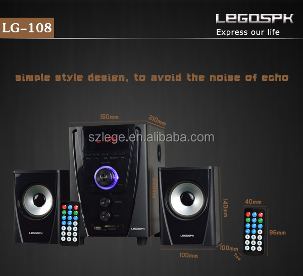2017 home theater system 2.1 speaker for dvd tv computer