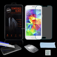 100% Real 9H Tempered Clear 0.26mm Shock Proof Glass Screen Protector For Samsung Galaxy S5 Mini