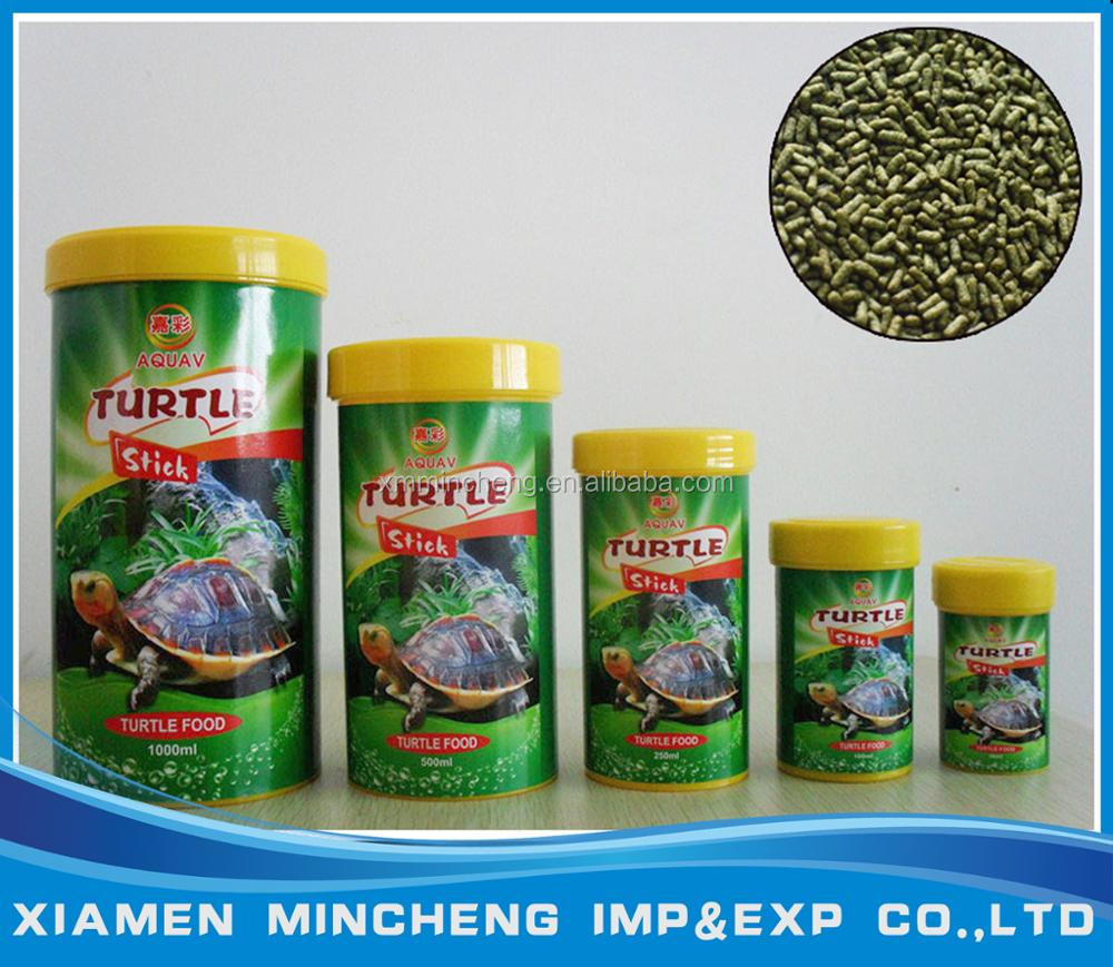 Ornamental fish food pellet products bottle package