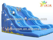cheap high and amazing large inflatable slide commercial