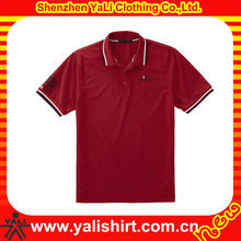 Custom 2014 comfort cheap cotton red rib collar short sleeve oem clothes men fashion pictures
