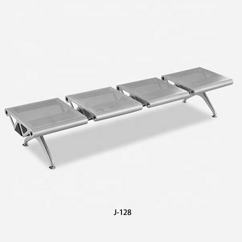Easy install popular metal steel 4seater airport lounge waiting chair J-128