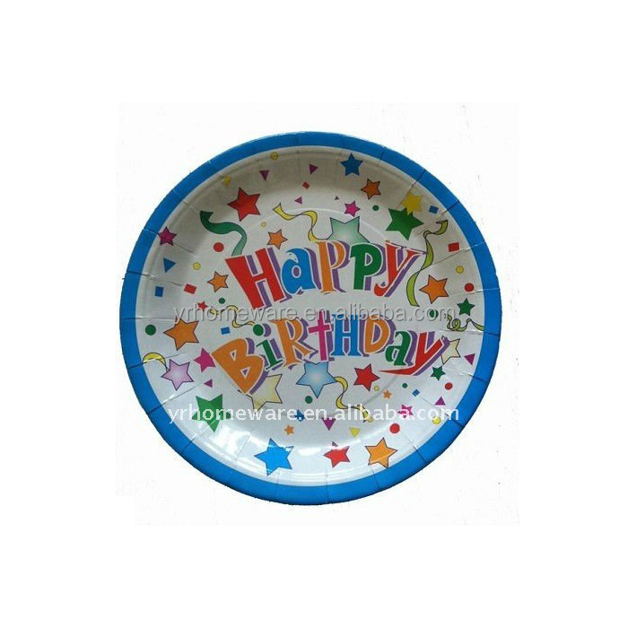 Happy Birthday Paper Plate disposable tableware