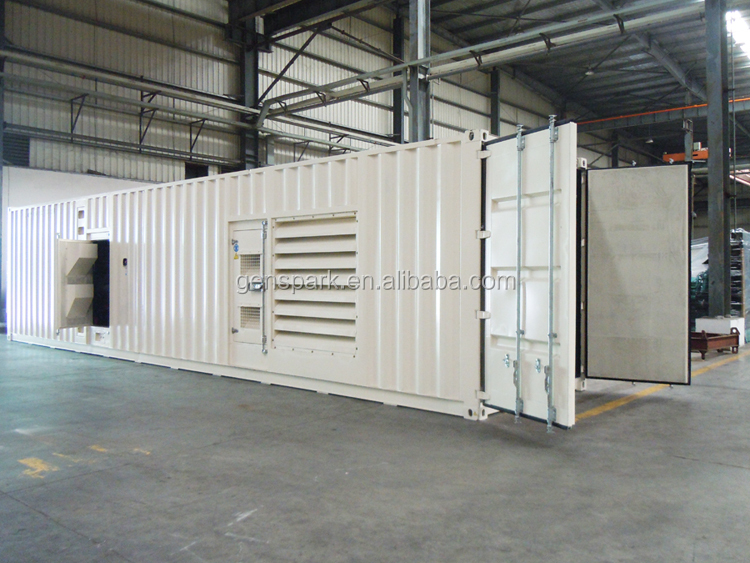50Hz Container type Power plant with 1000kw/1250kva cummins kta50-g3 generator set