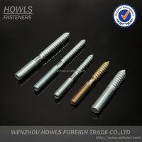 high quality carbon steel double screw VDF type double thread bolt