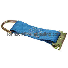 "6"" E Track Rope Tie Off - Blue"
