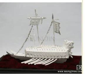 Korean Traditional 925 silver Turtle Ship Crafts