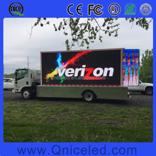 Outdoor Usage and Full Color truck mobile led display board/led vehicle advertising display