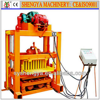 small hollow block making machine/brick making machine QTJ4-40