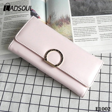 2017 New Long Section Three Fold Multi-card Women Fashion Wallet
