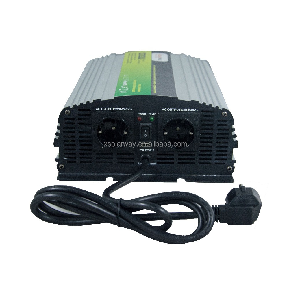 Off Grid Pure Sine Wave Solar AC DC 50HZ Power Inverter with charger 1500W