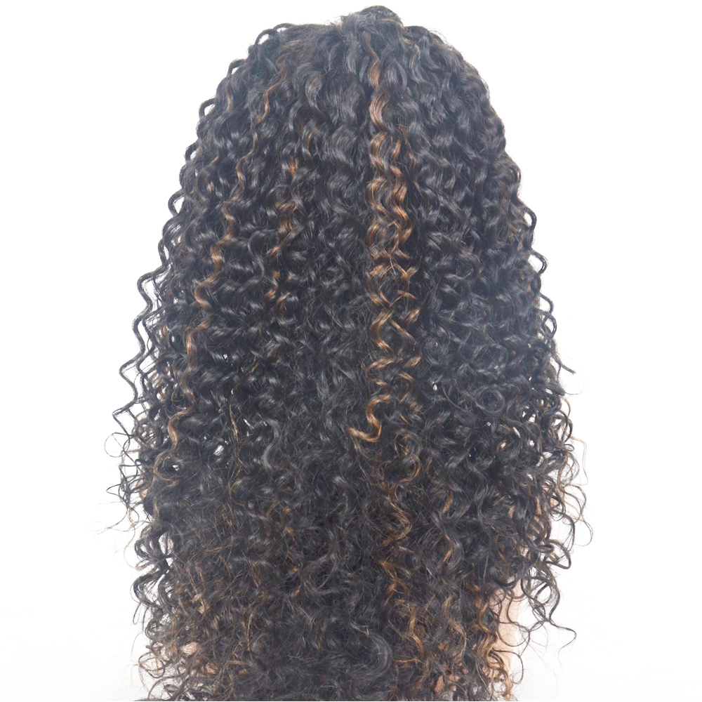 Wig Type and curl Style mongolian virgin hair hand tied wig