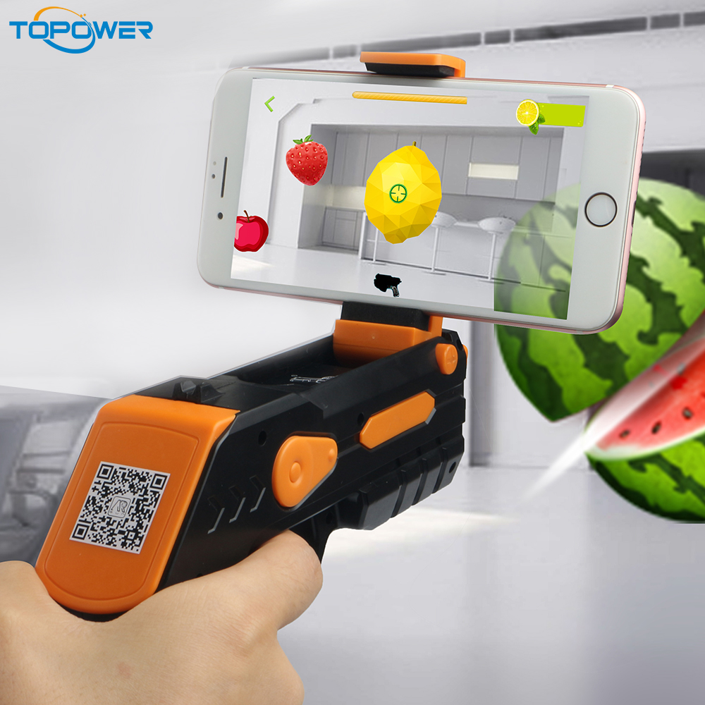 2017 innovative product shooting mobile Fun toys for adults for christmas AR game gun toy with bluetooth connection