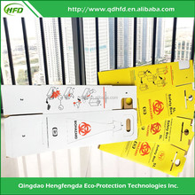 Daily consumer products biohazard cardboard safety box for biohazard waste