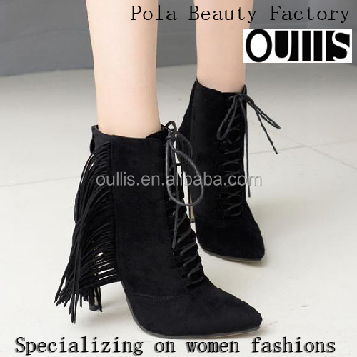 high heel boots made in china oullis shoes 2016 PF4415