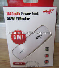 HAME MPR-A1 3G WI-FI router with 1800mAh power bank portable 3G mobile power router