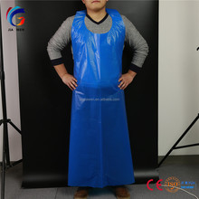 Medical disposable plastic hdpe ldpe poly pe clean bib aprons for food processing