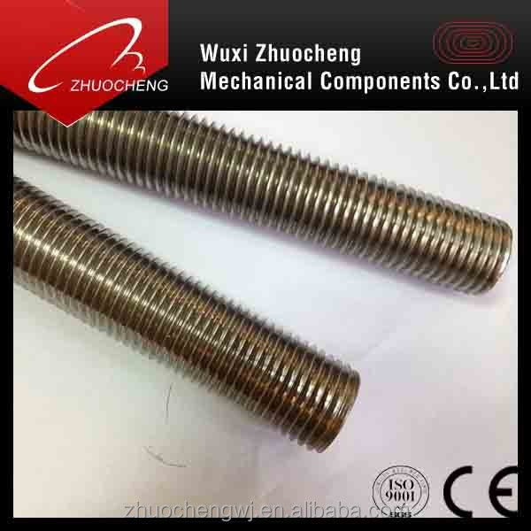 China manufacturer A2 A4 internally threaded rod passed ISO certification