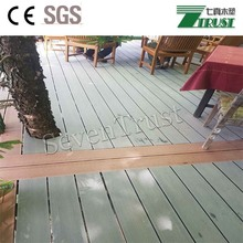 Recyclled composite decking planks, wood plastic composite material used for exterior flooring, 150x25mm decking