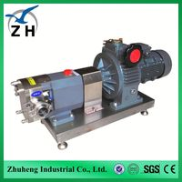 stainless steel rotary lobe pump heavy fuel oil pump lube oil transfer pump from professional manufacturer