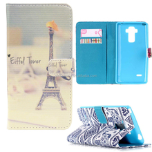 Luxury Premium Silk Pattern Wallet Leather Case Flip Case Cover Leather Case For LG G4 Note / G Stylo / G4