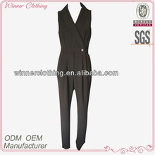 formal office wear ladies summer pant suits with sleeveless