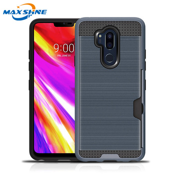Maxshine new tpu pc phone case for LG G7 protective credit card case