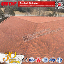 Red BitumenRed Asphalt Shingle for Luxury Villa